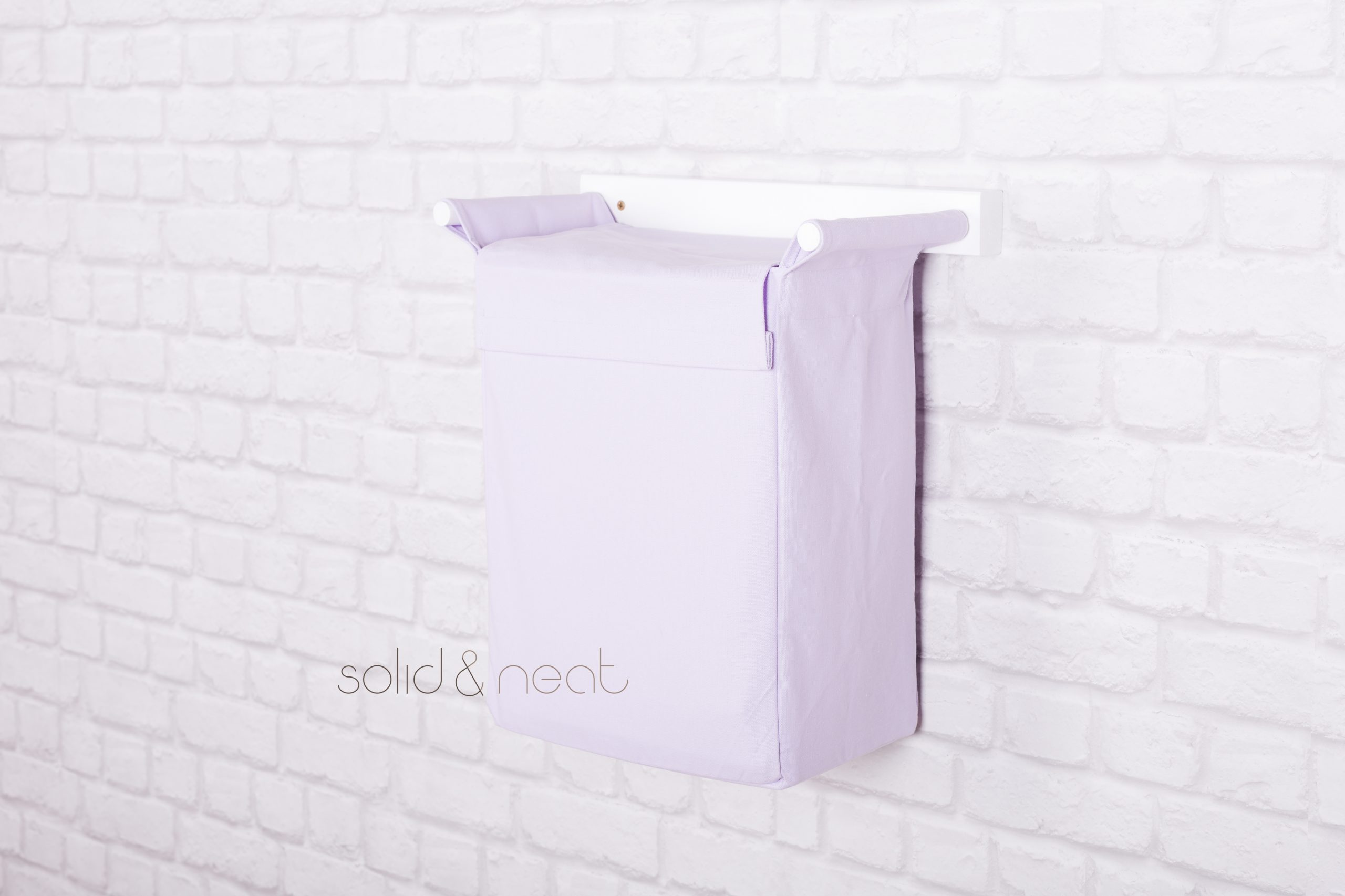 laundry basket from canvas pastel colors