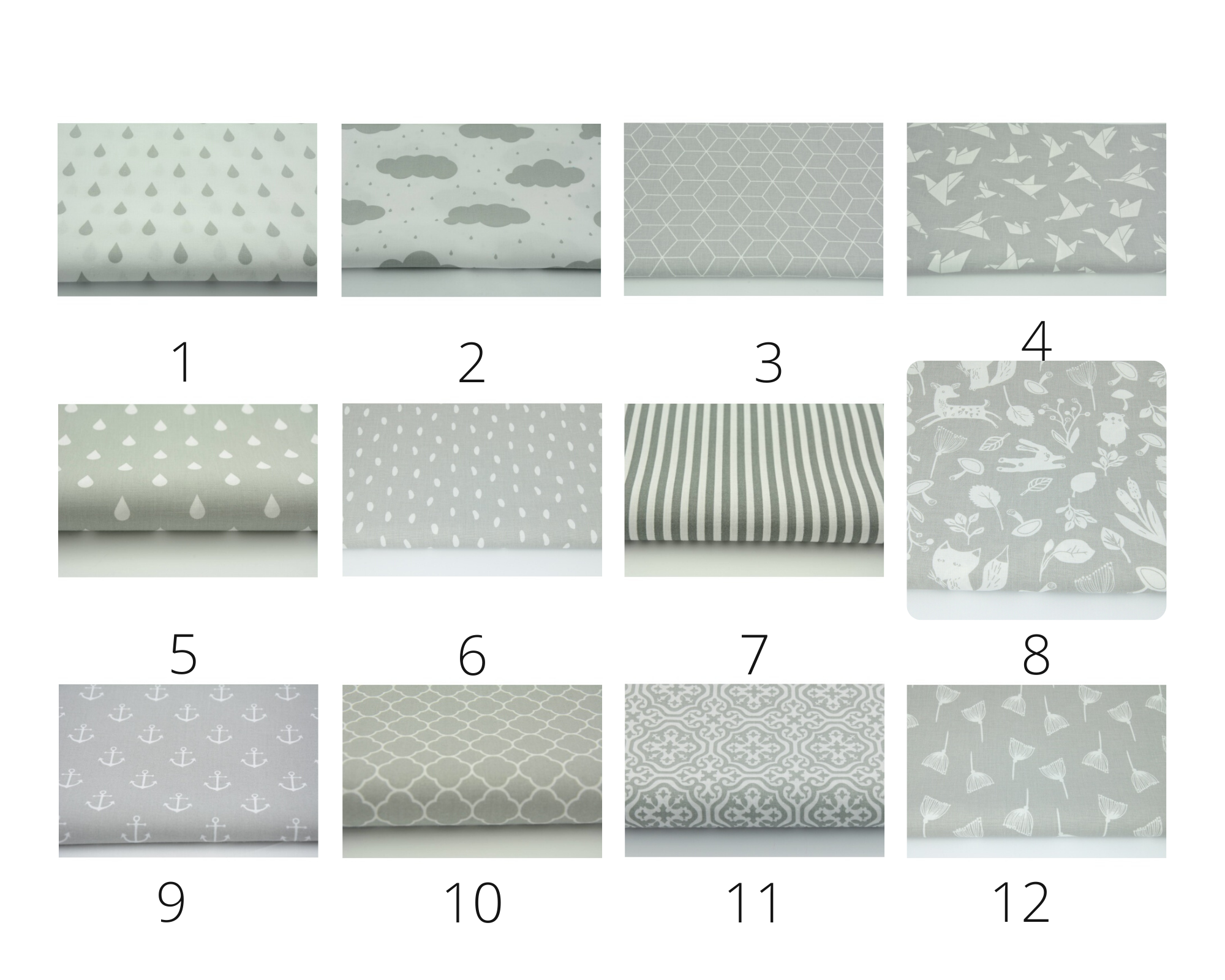 grey fabric options for solidandneat