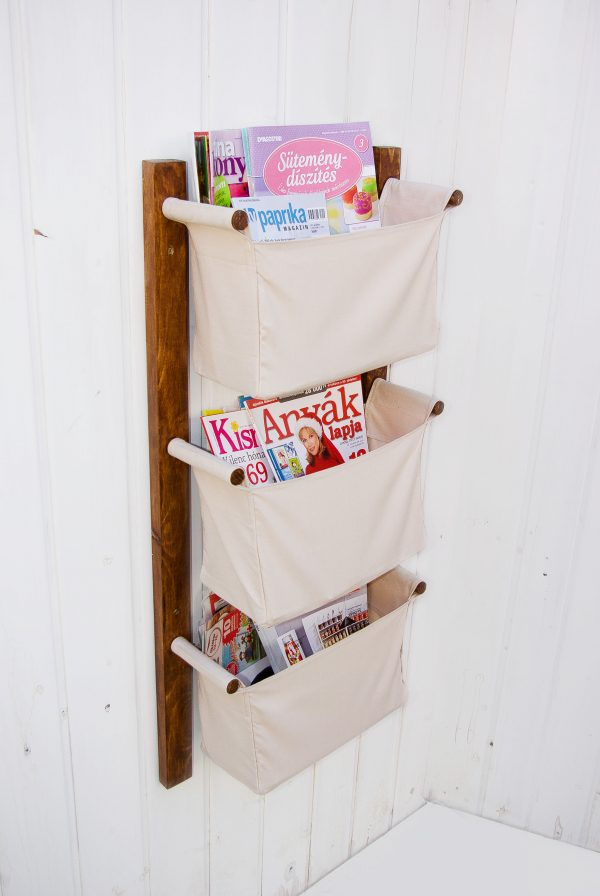 light beige magazine holder