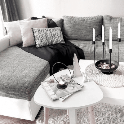Mywhitenotes Scandinavian Styled Living Room