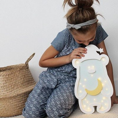 scandi style night light for kids room by sabo concept