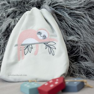 sloth drawstring bag solid and neat
