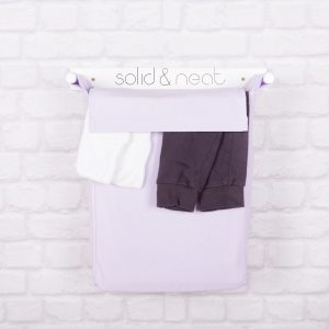 solidandneat lavender canvas laundry hamper