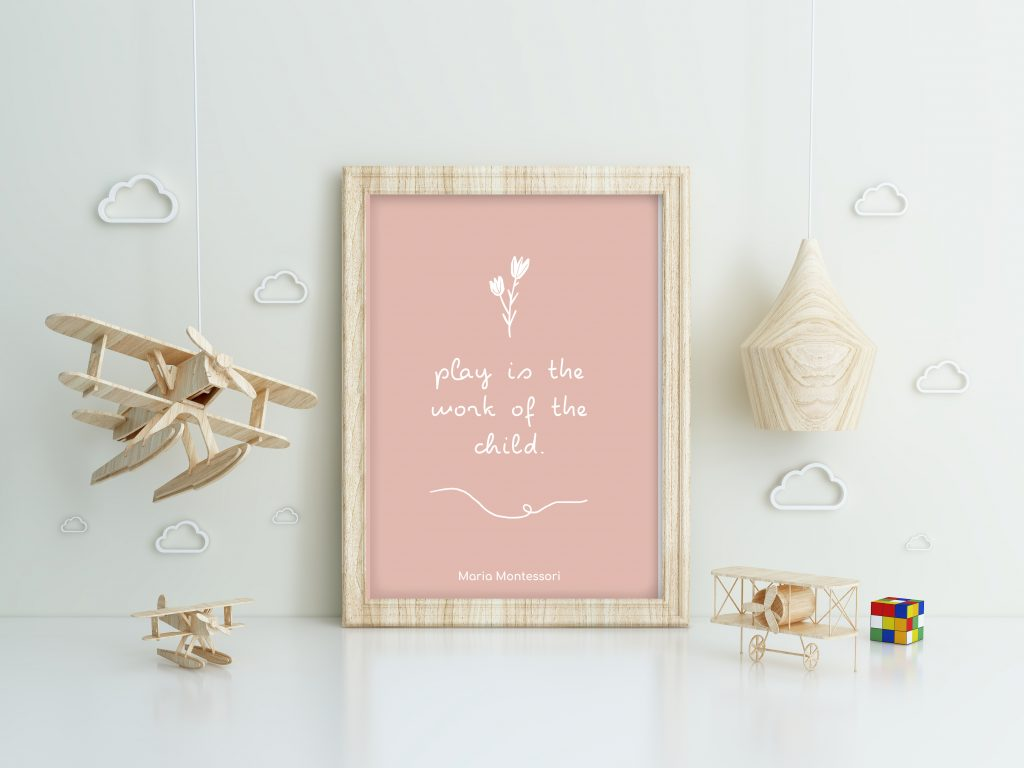 montessori quote print art