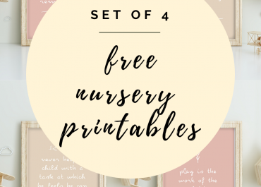set of 4 free nursery printables