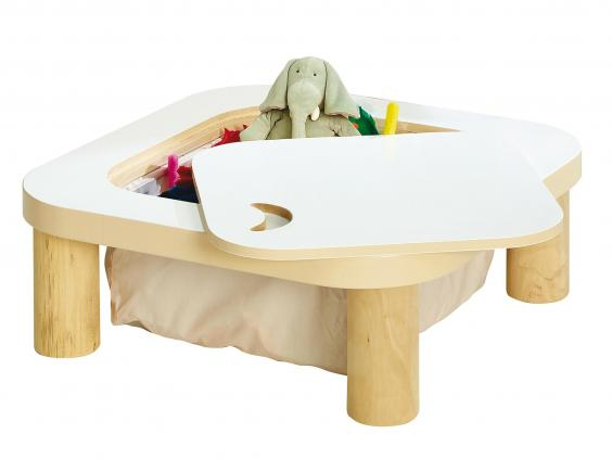 smart table with storage in kids room
