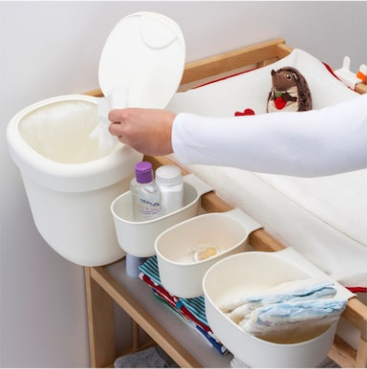 storage containers for diaper station from ikea
