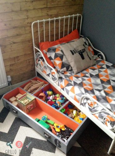 under the bed storage genius ideas to organize a small kids room