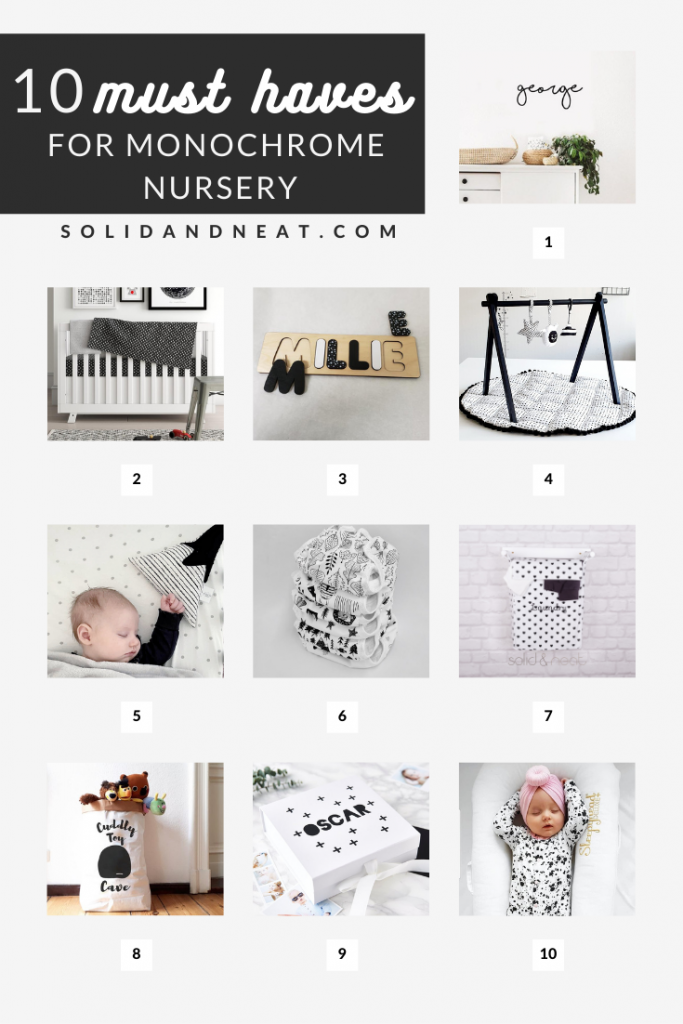10 must haves for monochrome nursery