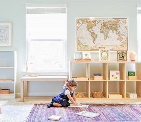 organized kids room solid and neat