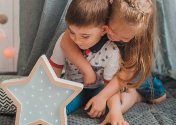 sabo concept kids with star shape wooden lamp